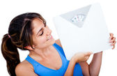Woman loosing weight — Stock Photo