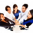 Friends with hands together — Stock Photo