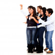 Group of friends pointing — Stock Photo #10394332