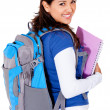 Student with a backpack — Stock Photo