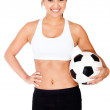 Female football player — Stock Photo #10394372