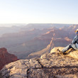 Stock Photo: Man at the Grand Canyon