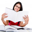 Student reding a book - Stock Photo