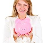 Business woman saving — Stock Photo #10445501
