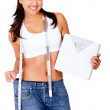 Woman loosing weight — Stock Photo #10445512