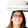 Geeky female student - Stock Photo