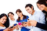 Mensagens de texto em seus celulares — Foto Stock