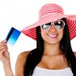 Woman planning her vacations — Stock Photo