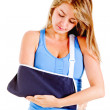 Woman with broken arm — Stock Photo #10478446
