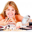 Woman with make up - Foto de Stock