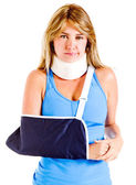 Injured woman — Stock Photo