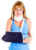 Injured woman — Stock Photo
