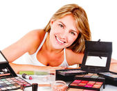 Woman with makeup — Stock Photo