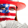 Rich American woman — Stock Photo