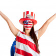 Stock Photo: American woman