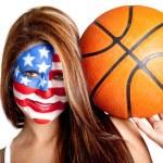 American basketball fan — Stock Photo