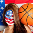 ストック写真: American basketball fan