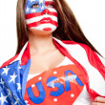 American superwoman — Stock Photo