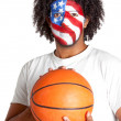 American basketball fan — Foto Stock