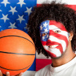 American basketball fan — Stock Photo #10505801