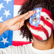 Stock Photo: Patriotic American man