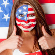 Stock Photo: Happy Americwoman