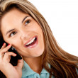 Woman on the phone — Stock Photo #10505897