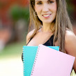 Stock Photo: Female student smiling