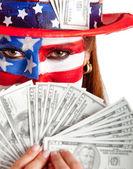 Rich American woman — Stock Photo