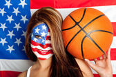 American basketball fan — Stock Photo