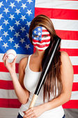 American baseball fan — Foto de Stock