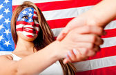 American handshake — Stock Photo