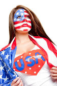 American superwoman — Stock Photo
