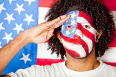 Patriotic American man — Stock Photo