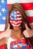 Happy American woman — Stock Photo