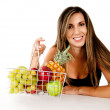 Woman with fruits - Stockfoto