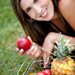 Woman with fruits — Stock Photo #10555270