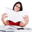 Stock Photo: Woman studying