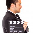 Man casting for a tv role - Stock Photo