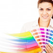 Female decorator — Stock Photo #10555325