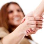 vänlig handskakning — Stockfoto