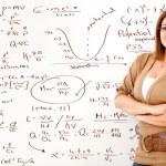 Math teacher — Stock Photo