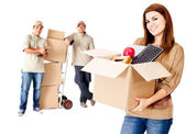 Helping with the move — Stock Photo