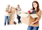 Ayuda con la mudanza — Foto de Stock