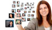 社会的ネットワーク — ストック写真