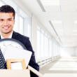 Moving into a new office — Stock Photo