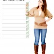 Woman with checklist — Stock Photo