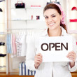 New business owner - Foto Stock