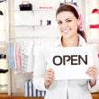 New business owner — Stock Photo