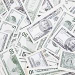 Bunch of dollar bills — Stock Photo #10589108